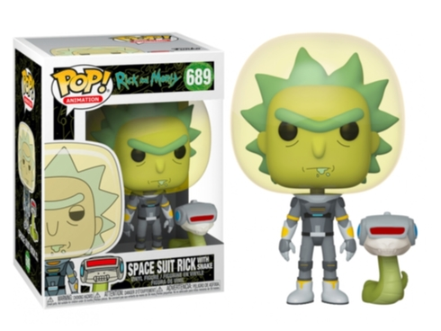 Funko POP Animation: Rick & Morty S2 - Space Suit Rick w/Snake