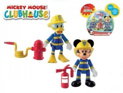 Mickey Mouse a Donald Clubhouse figurky hasiči 2ks