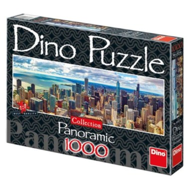 Puzzle Chicago 1000 Dílků panor. - Dino