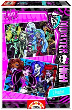 Puzzle Monster High 2v1 100 dílků