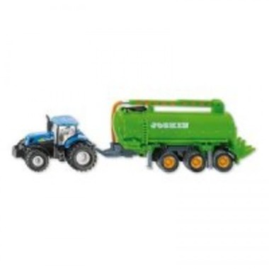 SIKU Farmer 1860 - traktor New Holland T7070 s cisternou, 1:87
